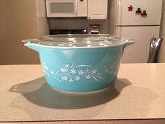 """RARE Pyrex """"Blossom Breeze"""" Cinderella Starter Set 474 Casserole Dish #Pyrex"""