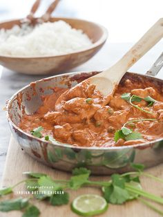 Indian Butter Chicken is creamy, totally flavorful and comes together in a snap | foodiecrush.com