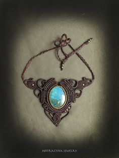 Chrysocolla victorian necklace goddess by AbstractikaCrafts