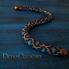 Bead Crochet Rope Necklace  Morocco patterns