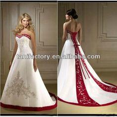 White Red Wedding Dresses 2013