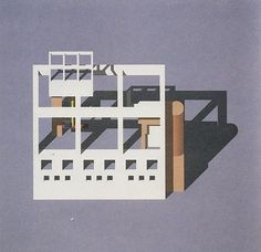 Arata Isozaki / Reduction Series 7 Office II, 1983.