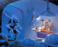 """Michael Whelan's cover to """"The Mastermind of Mars"""" by Edgar Rice Burroughs"""