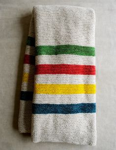 A Striped Baby Blanket knitting pattern.
