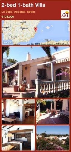 2-bed 1-bath Villa in La Sella, Alicante, Spain ►€125,000 #PropertyForSaleInSpain