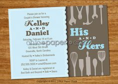 jack and jill shower invitations Heres a pretty yet simple