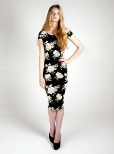 www.exciteclothing.com.  Floral Midi Dress £5.99 Sized UK 8-14.  Womens Clothing