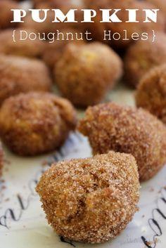 Yum!! Pumpkin Spice Donut Holes