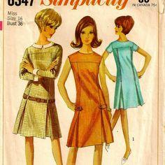 1965 Mod Dress Pattern by twobuckpatterntruck, $2.00