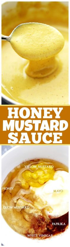 Honey Mustard Sauce Recipe - You are only 6 ingredients away from making your favorite dipping sauce right at home! Honey Mustard Sauce Recipe - You are only 6 ingredients away from making your favorite dipping sauce right at home! Homemade Honey Mustard, Honey Mustard Sauce, Honey Sauce, Honey Mustard Dressing, Mustard Recipe, Honey Mustard Chicken Wings, Grilled Honey Mustard Chicken, Sauce Recipes, Cooking Recipes