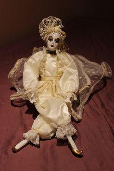 Silvestri Dollcrafter Porcelain Doll - Harlequin Jester