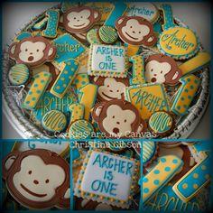 Mod Monkey Cookies for a Boy *Ü*