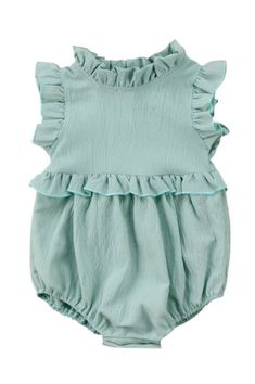 GHandmade Double Cotton Gauze Baby Romper | Byyouandme on Etsy