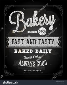 bakery sign chalk - Google Search