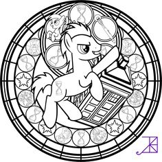 Doctor Hooves Stained Glass Coloring Page by Akili-Amethyst on deviantART great selection of princesses too!