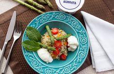 Salada de Quinoa com Aspargos Frescos e Burrata