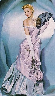 blue gown Lisa Fonssagrives in a Charles James gown,1948