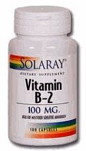 Vitamin B-2 100mg - 100 - Capsule by Solaray. Save 21 Off!. $8.49. Solaray. Vitamin B-2, also known as Riboflavin, is essential in human biochemistry. Vitamin B-2 100mg by Solaray 100 Capsule Vitamin B- 2 or Riboflavin is essential in human biochemistry. It is converted into FADH 2 which is one of the key components the body uses to make energy. Size 100ct 100mg Directions As a dietary supplement take 1 capsule daily with a meal or a glass of water. Serving Size 1 Capsule 10...
