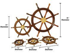 Wooden Ship Wheel