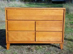 Vintage Mid Century Modern Russel Wright Conant Ball Dresser Compact Chest MCM #MidCenturyModern #ConantBall