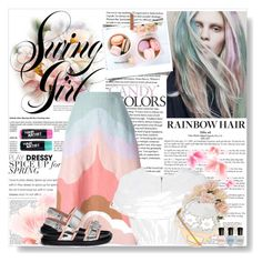 """Contest : How To Rock Rainbow Hair"" by vampirella24 ❤ liked on Polyvore featuring beauty, Valentino, Delpozo, Marni, STELLA McCARTNEY, Deborah Lippmann and ASOS"