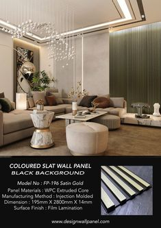 2021 NEW COLOURED FLUTED PANEL The Modern Coloured Fluted panel range is the latest addition to our FLUTED ( Black Background ) collection. Produced with a smoother, modern-looking metallic finish with black line.The Modern coloured fluted panel range is perfect if you are looking for the Modern slat look design also with stylish and luxury feature walls. Tv Wall Panel, Wood Panel Walls, Wood Paneling, Wall Partition Design, Wall Design, Slat Wall, Wood Wall, Interior Walls, Interior Design