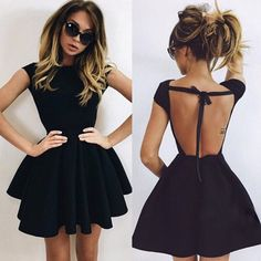 Cute A-Line Homecoming Dresses,Black Ball Gown Backless Short Prom Dresses 2017 HCD29Short Prom Dresses, Homecoming Dresses, Prom Gowns, Party Dresses, Graduation Dresses, Short Prom Dresses, Gowns Prom, Cheap Prom Gowns on Line