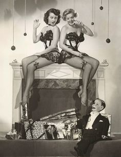 Charlie McCarthy and friends - Christmas 1940s