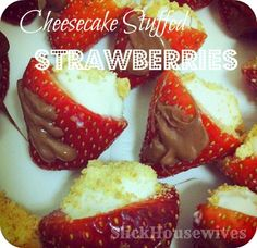 Valentines Day: Cheesecake Stuffed Strawberries - SLICKHOUSEWIVES
