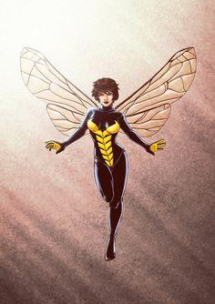 Wasp - Art by ryodita Marvel Comics Art, Marvel Heroes, Marvel Avengers, Avengers Alliance, Comic Book Heroes, Comic Books Art, Comic Art, Book Art, Marvel Women
