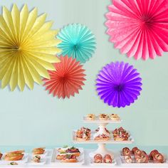 Decorative Wedding Paper Crafts 15/20/25/30CM 1PCS Flower Origami Paper Fan DIY Wedding Birthday Party Decorations Supplies Kids