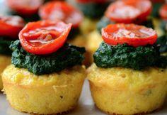 Mini muffins de polenta con espinaca y choclo