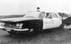 sporty vintage police car ~ We are in pursuit of the Blues Brothers & requesting backup! LOL