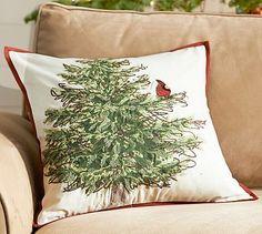 Cardinal Bird in Tree Pillow Cover #potterybarn