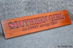 Southern Girl Wood Sign