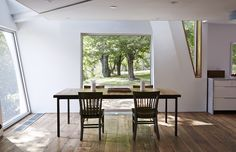 """Self-taught designer <a href=""""http://www.dwell.com/design-source/org/givonehome"""">Tom Givone</a> continues his practice of updating 19th-century <a href=""""http://www.dwell.com/houses-we-love/article/7-modern-farmhouses"""">farmhouses</a> with unexpected details and salvaged materials with his latest creation—a torqued-volume addition to an 1850s family homestead in Pennsylvania."""