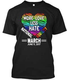 National Equality March Lgbt Pride Shirt Black T-Shirt Front