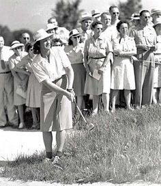 Babe Didrikson in action during U.S. Women's Open Championship of 1954, which she would win.  Photo: AP/Sports Illustrated.