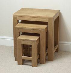 Oakdale Solid Oak Nest of Tables