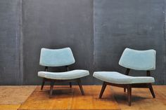 Jens Risom Slipper Lounge Chairs from Modern50 20th Century Vintage Furnishings & Design. USA, c.1960s. Jens Risom Rarely Seen Slipper Lounge Chairs.
