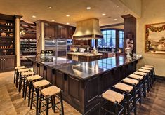 Wow look at all that countertop space...and the pantry. Don't love the shelf in the corner