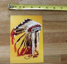 Plains Indian Headdress Postcard - Six Nations Circa 1960 - Royal Ontario Museum