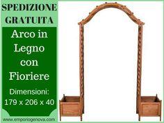 Pergola ad arco in legno con fioriere NUOVA... a Genova - Kijiji: Annunci di eBay
