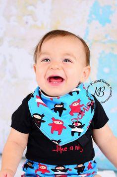 Baby Ninja Bandana Bib Like a Ninja Bodysuit Baby Boy by KenaBows