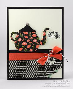 A Nice Cuppa Bundle with Pretty Petals DSP Mini Drapery Fold card created by Dawn Olchefske for DOstamperSTARS Thursday Challenge #DSC173 #dostamping #stampinup