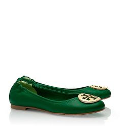 Tory Burch flats -- emerald green. My favorite!