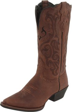 Justin Boots Women's Stampede Western Boot >>> This is an Amazon Affiliate link. For more information, visit image link.