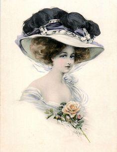 еще немного в подарок Вам красивых женщин из старых временЖенщина а шляпке Изящество моды, иль формы? Фурия, фея Ангел с небес