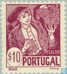 Portugal - 1941 - Farmer from the Lisboa Region - Costumes - Saloio History Of Portugal, Old Stamps, My Heritage, Stamp Collecting, Postage Stamps, Ephemera, Folk, Poster, Costumes