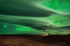 Aurora over Clouds